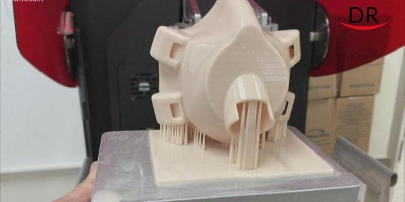 Dentists in Utah Produce Reusable Masks Using 3D Printers.